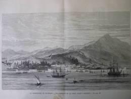 Catastrophe De Salonique , Vue Générale De La Ville , Avant L'incendie , Gravure De 1890 - Documents Historiques