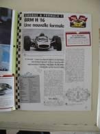 Fiche Technique Voiture - BRM H 16  F1 - 1967 - (N°14) Technical Car - Cars