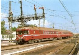 Nº77 POSTAL DE ESPAÑA DE UN ELECTROTREN 432  (TREN-TRAIN-ZUG) EDICIONES FERROVIARIES - Trains