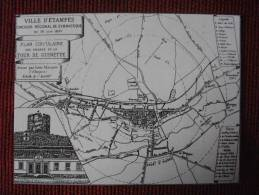ETAMPES ESSONNE  REPRODUCTION VILLE D ETAMPES CONCOURS REGIONAL DE GYMNASTIQUE DU 18 JUIN 1893 - Etampes