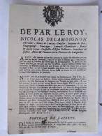 30 - Musée Du Désert - Affiche Pour L'arrestation De Gédéon Laporte Oncle De Roland (1702) - Scan Recto-verso - Nîmes