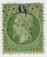 N° 20a 5c. Vert  Foncé - 1862 Napoléon III