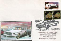 USA. Dakota Du Nord Car Show A Epping.,Chevrolet Corvette 1953, Une Belle Enveloppe Souvenir. - Voitures