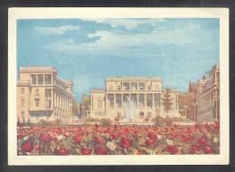 138 USSR RUSSIA 1956 STATIONERY POSTCARD SH 04902 MINT SOCHI CAUCASUS RESORT SANATORIUM DZERZHINSKY FOUNTAIN FONTAINE - 1923-1991 UdSSR