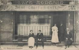 CHATEAUBRIANT DEVANTURE DU CAFE MODERNE BIERE GRAFF § RICHTER 44 LOIRE-ATLANTIQUE - Châteaubriant