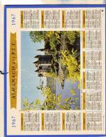 Almanach Des P.T.T. - Tarn Et Garonne) - Chateau Du Val - Bord Les Orgues -  1967 - Calendriers