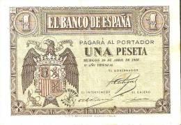 BILLETE DE 1 PTA DEL 30 ABRIL 1938 SERIE G CALIDAD BC  (BANKNOTE) - [ 3] 1936-1975 : Régence De Franco