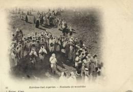 ALGERIE -  Extrème Sud Algerien - CPA - Fantasia De Mozabites - Vue Animée, - Scènes & Types