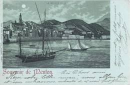BELLE CPA 1900 : SOUVENIR DE MENTON - Menton