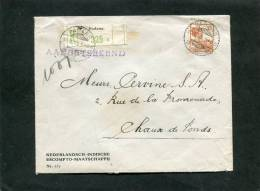 Nederlands-Indië Aangetekende Brief 1933 - Niederländisch-Indien