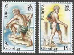 Gibraltar. 1981 Europa. Mint Never Hinged Complete Set - Gibraltar