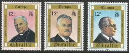Gibraltar. 1980 Europa. Personalities. Mint Never Hinged Complete Set - Gibraltar