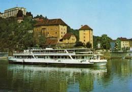 00178  Motorschiff RÀKÒCZI Bei Passau Auf Der Donau - Mahart Budapest - Bateaux