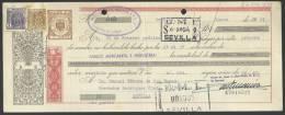 CLASE 4.ª - BANCO MERCANTIL E INDUSTRIAL - SEVILLA - 1957 - E7018527 - Bills Of Exchange