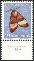 "Suisse PJ 1952: Yvert-No.530 ** MNH Avec Tab *Bombyce Du Chène""  (SBK CHF 13.00) - Vlinders"