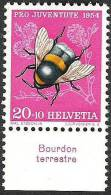 "Suisse PJ 1954: Yvert-No.555 ** MNH Avec Tab *Bourdon Terrestre""  (SBK CHF 7.00) - Honingbijen"