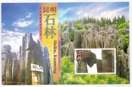 Hong Kong 2007 China Mainland Scenery-Shilin, Kunming S/s Mount Geology Rock Natural Heritage - Geology