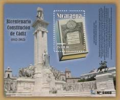 Nicaragua Bicentennial Of The Constitution Of Cadiz Of 1812 MNH 2012 NEW - Nicaragua