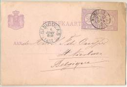 1p976: BRIEFKAART 2½ Cent + 2½ Cent: NIJMEGEN > St.NICOLAS 1885 - Postal Stationery