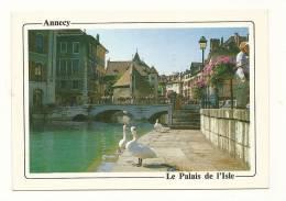 Cp, 74, Annecy, Les Vieux Quariters, Le Palais De L'Isle, Voyagée 1987 - Annecy