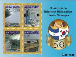 Nicaragua-Korea 50th Anniv Diplomatic Relations MNH 2012 NEW - Nicaragua