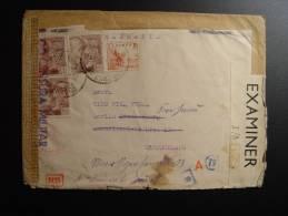 SANTA CRUZ DE TENERIFE CENSURE MILITAIRE ZENSUR CENSURA MILITAR WWII SS CAMBIO MADRID POUR BERLIN ALLEMAGNE - 1931-Aujourd'hui: II. République - ....Juan Carlos I