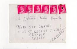 69538)lettera Aerea Spagnola Con 6 Valori + Annullo - Usati