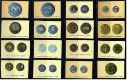 16 Sammelbilder Greiling Münz-Sammlung Mexiko - Island  - Ca. 1929 - Cigarette Cards