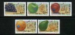 South Africa 1994 Export Fruits Stamps Fruit Grape Apple Orange Avocado Plum - Unused Stamps