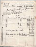 Entête Du 21/05/1930 RAYMOND SOULIER Manufacture De Maroquinerie - Mazamet Tarn - Frankrijk