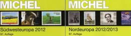 Michel Katalog Südwest-/Nord-Europa 2013 Neu 116€ Band 2+5 : F E P M Monaco DK S N SF Esti Litauen Lettland Karelien - Alte Papiere