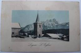 Leysin : L´Eglise - Colorisée - VD Vaud