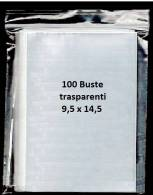 SI53D Buste Bustine Trasparenti Per Cartoline E Altro 9,5x14,5 Mm 100 Pz. In POLIPROPILENE - Italia