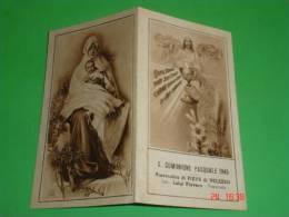 Eb Seppia N°290 /Anno 1945 PIEVE VELEZZO,Pavia-Comunione Pasquale-Madonna PACE- XVI°S.AMBROGIO - Santino - Santini
