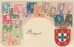 Stamp Embossed Postcard Timbre Ottmar Zieher Gaufrée Portugal - Portugal