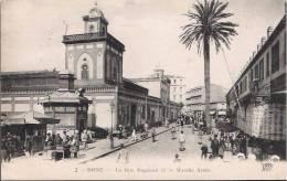 Bône - La Rue Bugeaud Et Le Marché Arabe - Annaba (Bône)