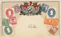 Stamp Embossed Postcard Timbre Ottmar Zieher Gaufrée Cuba - Cartes Postales