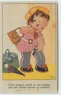 HUMOUR -C'est Toujours Quand On Est Pressée Que Des Choses Comme Cela Arrivent! (carte Illustrée Par Elie Lechat). - Cartes Humoristiques