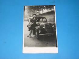 Photo Originale Ancienne Voiture Automobile Traction Gros Plan A Identifier - Automobiles