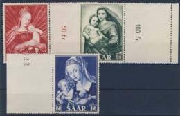 Saarland Michel No. 351 - 353 ** postfrisch mit Leerfeld