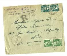 06 – Alpes Mmes   LE BROC  LRI 1er Ech. – Tarif à 14F. - 1945-54 Marianna Di Gandon