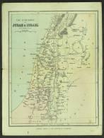 "A C1950 Historical Map Of  ""Judah & Israel"" - Maps"