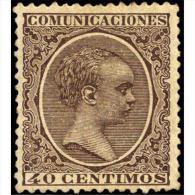 ES223STV-LFT**223STISC.España.Spain .Espagne.ALFONSO Xlll Niño. .1889/99.(Ed 223*)con Charnela. - Games