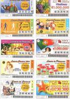 10 LOTTERY TICKETS - 10 BILLETS DE LOTERIE - PORTUGAL - YEAR - ANÉE 2004 - Other Collections