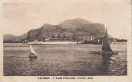 - PALERMO- IL MONTE PELLEGRINO VISTO DAL MARE VG 1927   BELLA FOTO D´EPOCA ORIGINALE 100% - Palermo