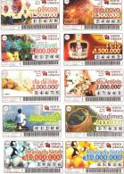 10 LOTTERY TICKETS - 10 BILLETS DE LOTERIE - PORTUGAL - YEAR - ANNÉE 2005 - Other Collections