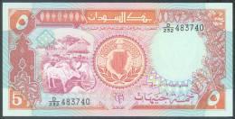 Sudan 5 Pounds 1991 Pick 45 UNC - Sudan