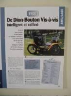 Fiche Technique Voiture - De Dion Bouton Vis à Vis - 1900 - (N°12) Technical Car - Cars