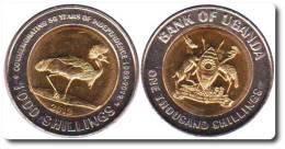 "UGANDA 1.000 SHILLINGS 2.012 2012  Bimetálica SC/UNC ""50 Years Of Independence"" T-DL-10.168 - Uganda"