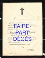 Faire-part Décès Monseigneur Etienne BAGNOUD, Abbé De St-Maurice, évêque De Bethléem, 1888 - Décès